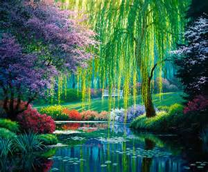 the willow pond mural nature wallpaper amp wall murals pictowall