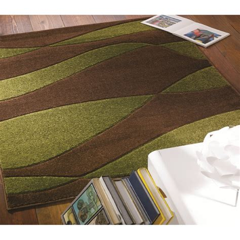 green and brown striped rug brown green striped orleans rug carpet runners uk