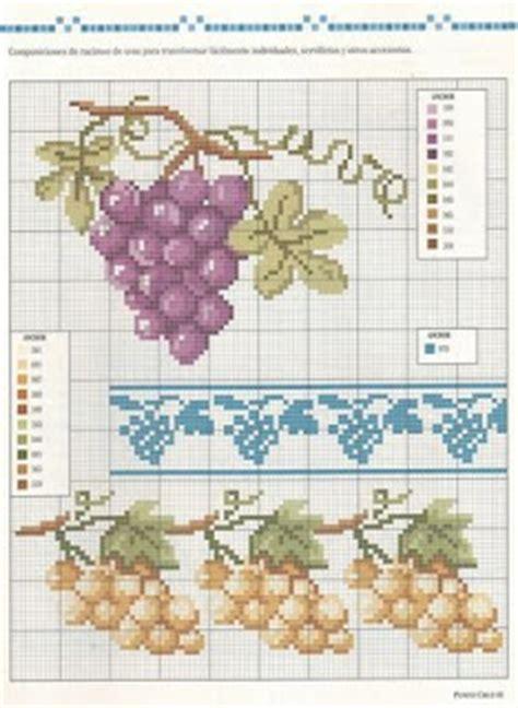 cenefas de uvas en punto de cruz uvas laboresdeesther punto de cruz gratis