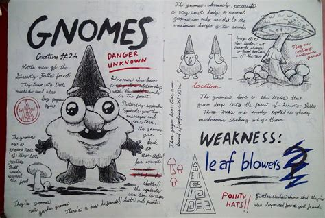 printable journal pages gravity falls gravity falls journal 3 replica gnomes page by leoflynn
