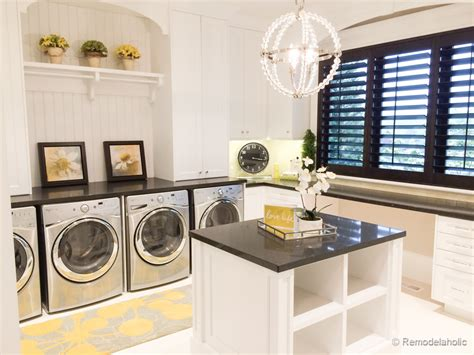 Kitchen Island Space by Remodelaholic Laundry Rooms
