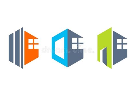 icon design build house real estate home logo construction building