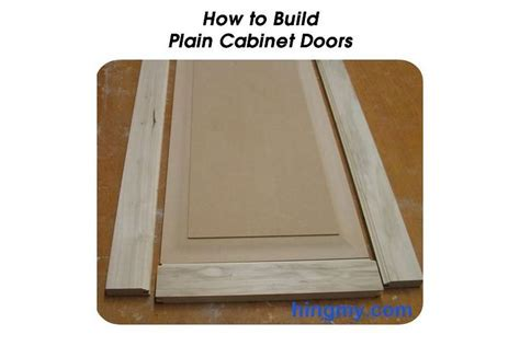 How To Build Plain Cabinet Doors Make Your Own Cabinet Doors