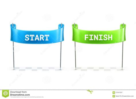 start to finish start and finish flags illustration stock vector image