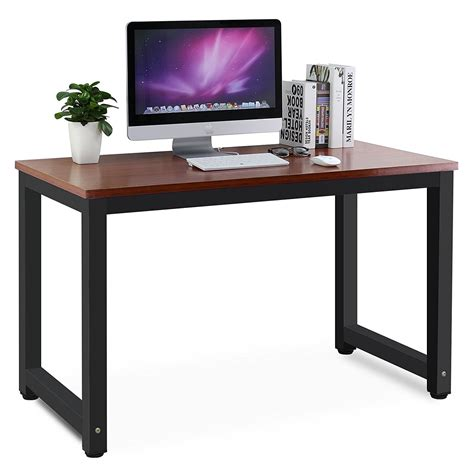 Laptop On A Desk Tribesigns Modern Simple Style Computer Desk Pc Laptop Study Table Office Desk Workstation For