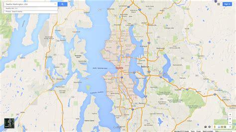 seattle map is seattle washington map