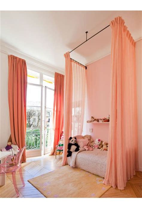 little girl canopy bed curtains girls boy girl room and little girl rooms on pinterest
