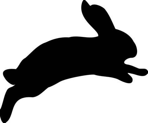 Bunny Ibon Black free vector graphic bunny clipart issue fast icon