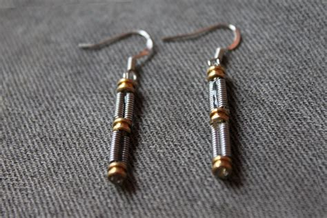 String Earrings - guitar string earrings and jewelry