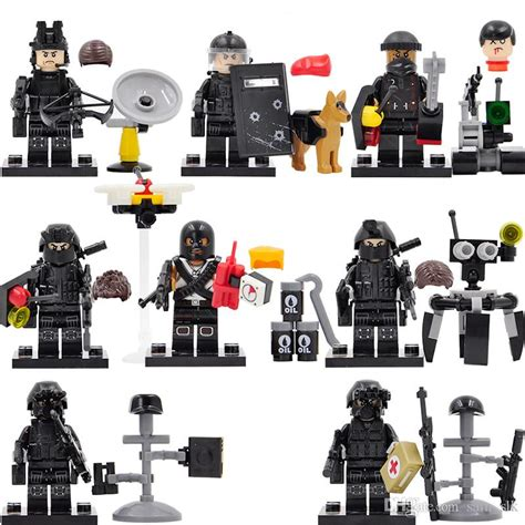 Mini Figures Swat Sy By Hobijepang 2018 sy607 swat minifigures falcon commandos