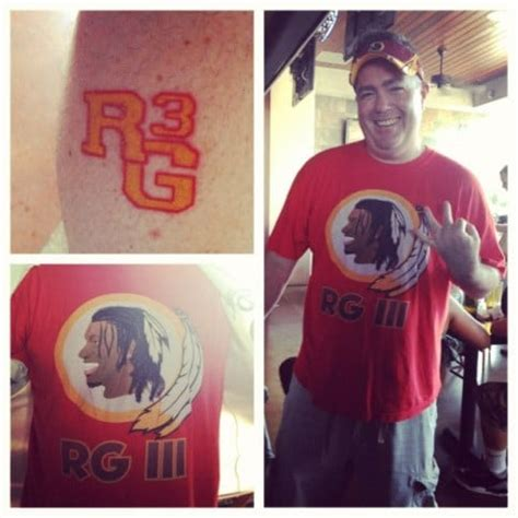 rg3 tattoo we perhaps our redskins rg3 folks