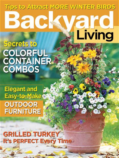 backyard living magazine backyard living magazine back issues outdoor furniture