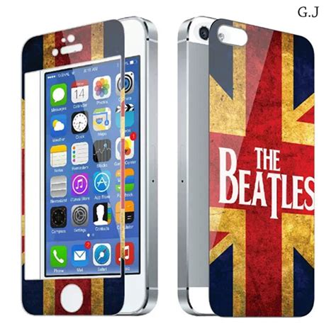 Limited Tempered Glass Zen1th Iphone 4 the beatles uk flay luxury sticker for iphone 4 4s
