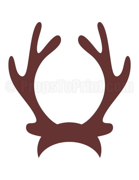 printable reindeer antler hat reindeer antlers antlers and photo booths on pinterest