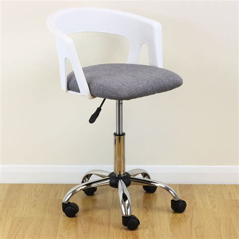 White Grey Adjustable Swivel Desk Chair Stool Home Office Desk Stool