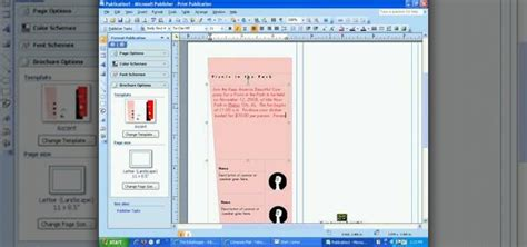 brochure template for publisher how to create a brochure in publisher 2007 171 microsoft