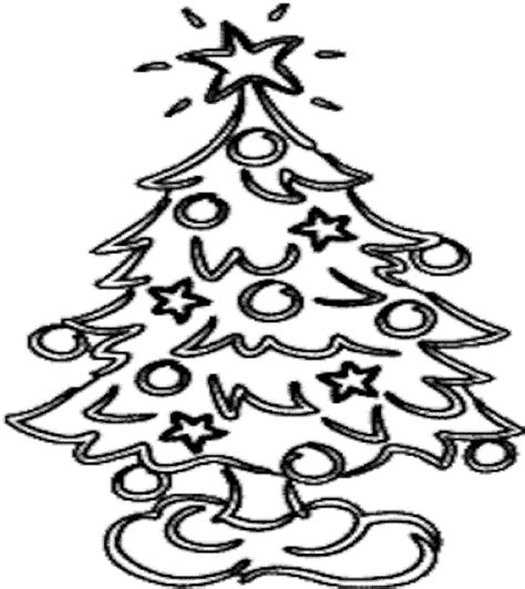 christmas tree coloring pages  world pics