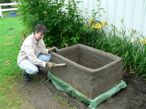 diy concrete planter gardening pinterest