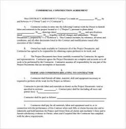 general contractors contract template construction contract form free word pdf excel format