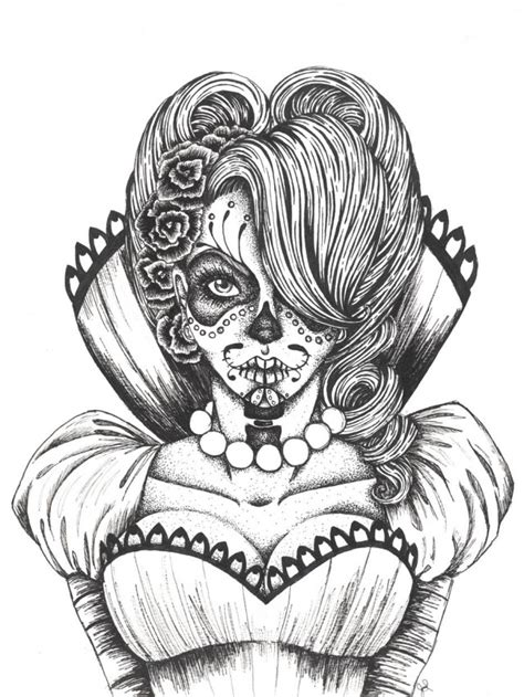 pin girl sugar skull tumblr on pinterest