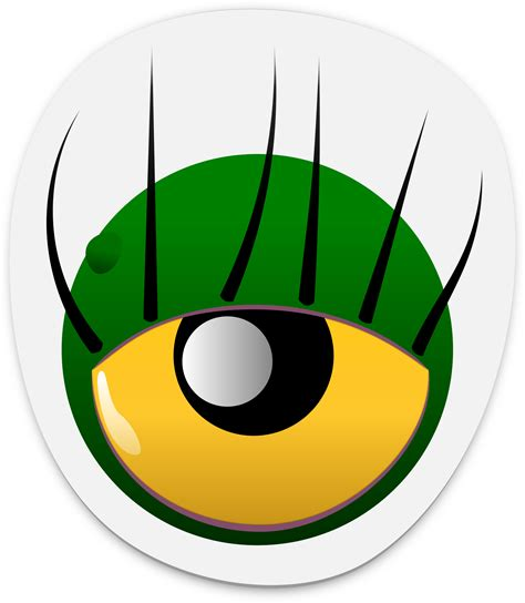 printable alien eyes clipart monster eye sticker 2