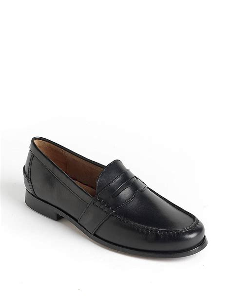 polo loafers polo ralph arscott leather loafers in black