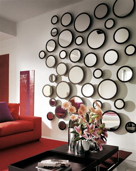 Living Room : Elegant Wall Mirror Living Room With Square Gold Wall Mirror Art Also Round