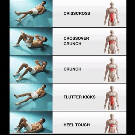 crunches  target  ab muscles fitness exercise abs workout routines