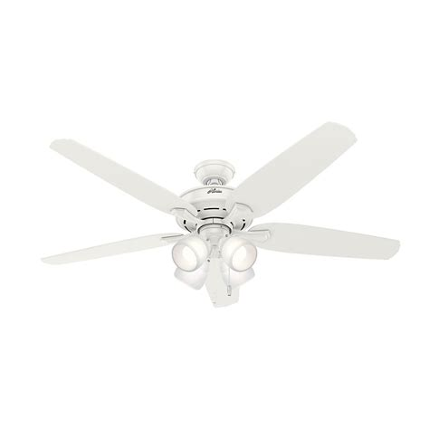 hunter channing 60 in led indoor fresh white ceiling fan