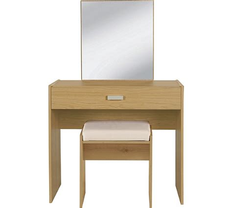 argos bedroom stools buy home new capella 1drw dressing table stool mirror oak