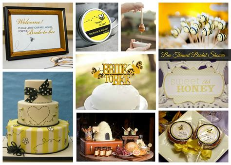 bee themed bridal shower inspiration aisle
