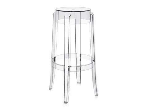 kartell bar stool buy the kartell charles ghost bar stool crystal at nest co uk