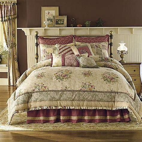 antique rose comforter set 8p king antique rose comforter set tan burgundy rose nu ebay