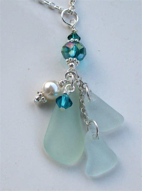 how to make jewelry from sea glass sea glass necklace sea glass jewelry aqua by