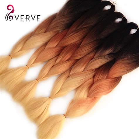 ombre synethic hair 12 12roots ombre braiding hair kanekalon crochet