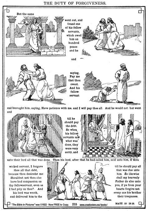 free coloring pages of parable of the unmerciful servant