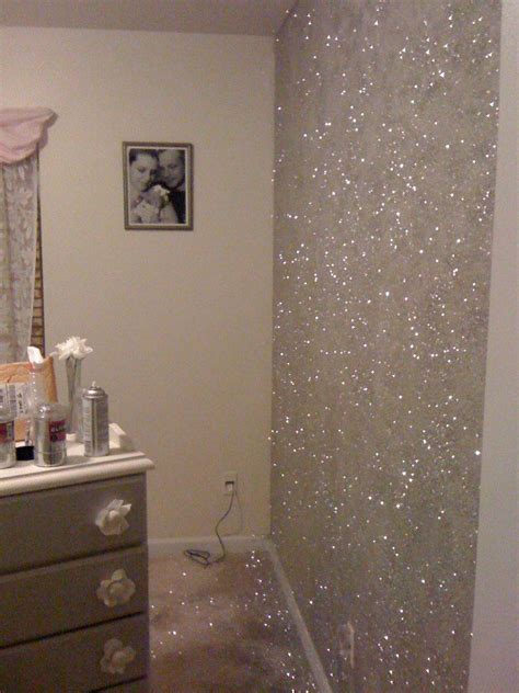 painting with glitter glitter wall paint how do i do it yahoo answers