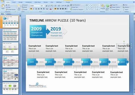 How To Format A Powerpoint Timeline Youtube How To Make A Timeline In Powerpoint 2010