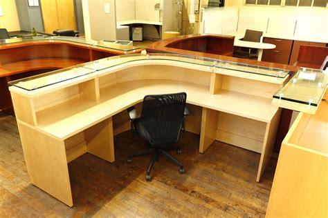 maple reception desk baldwin glass top maple reception desk peartree office