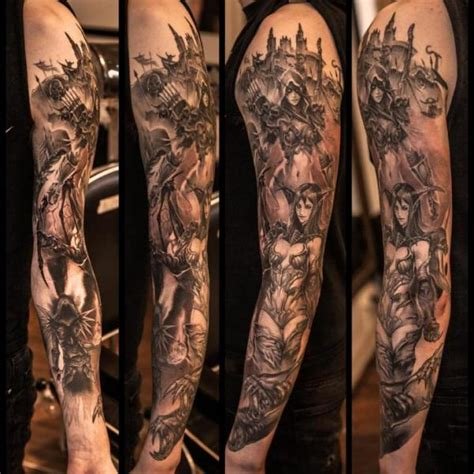 fantasy sleeve tattoo designs sleeve by