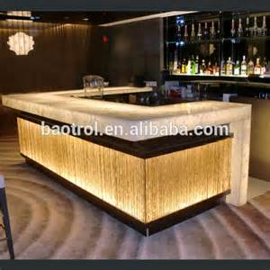 restaurant moderne comptoir de bar design led lumineux