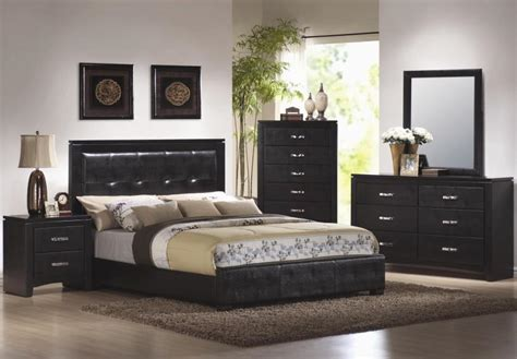 photos of bedrooms with black furniture