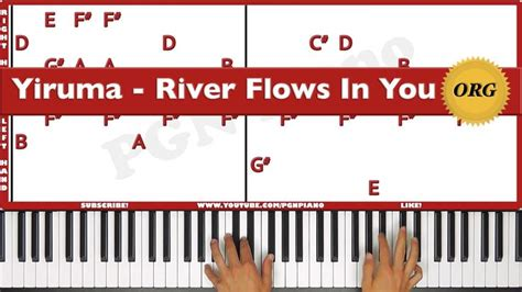 Tutorial Piano Yiruma River Flows In You | 60 best images about music on pinterest moon river