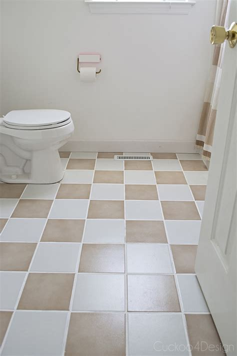 checkerboard bathroom floor updating my plain tan checkerboard floor cuckoo4design