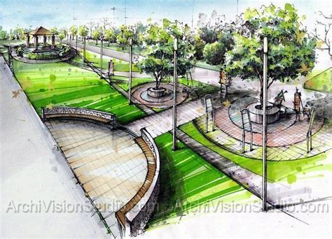 design architecture environment sles of architecture renderings using felt tip pens