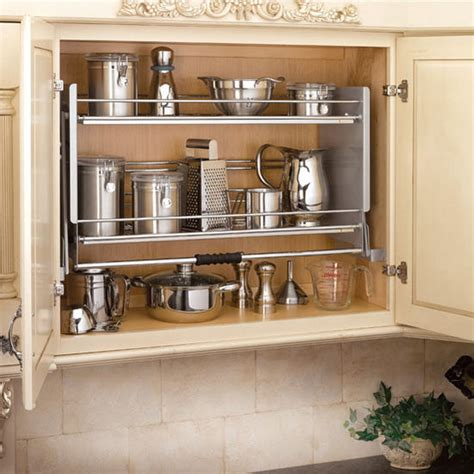 kitchen cabinet pull down shelves rev a shelf premiere quot pull down shelving system for