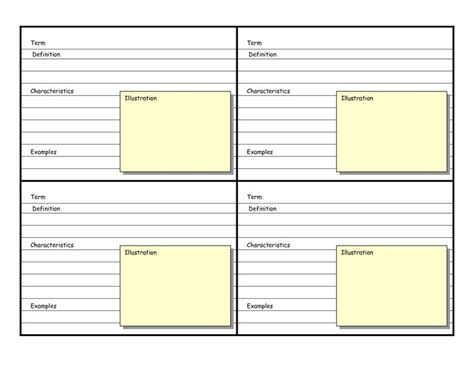 2x2 blank card template on 8 5 and 11 inch portrait best 25 flash card template ideas on make