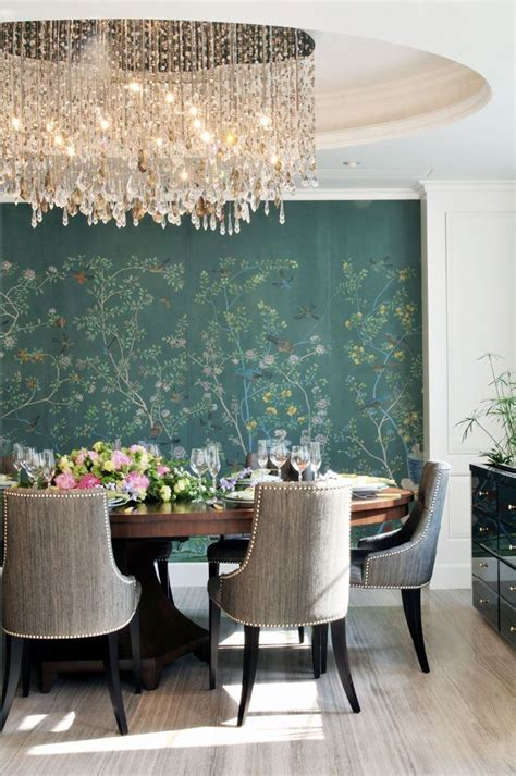 wallpaper accent wall dining room 1000 ideas about dining room wallpaper on