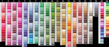 colors chart fly tying material dmc embroidery floss for midge