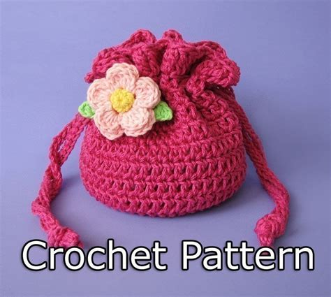 Pattern Crochet String Bag | pdf crochet pattern drawstring bag pouch